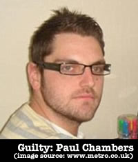 Paul Chambers: fined £1,000 for single tweet