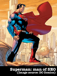 Superman: man of SEO (Image source: DC Comics)